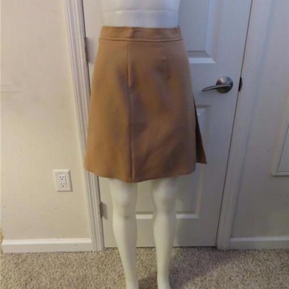 569fd078df5b L-BAROK Skirts | Lbarok Wool Tan Side Zipup Skirt 404 | Poshmark